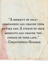 a moment of self compassion