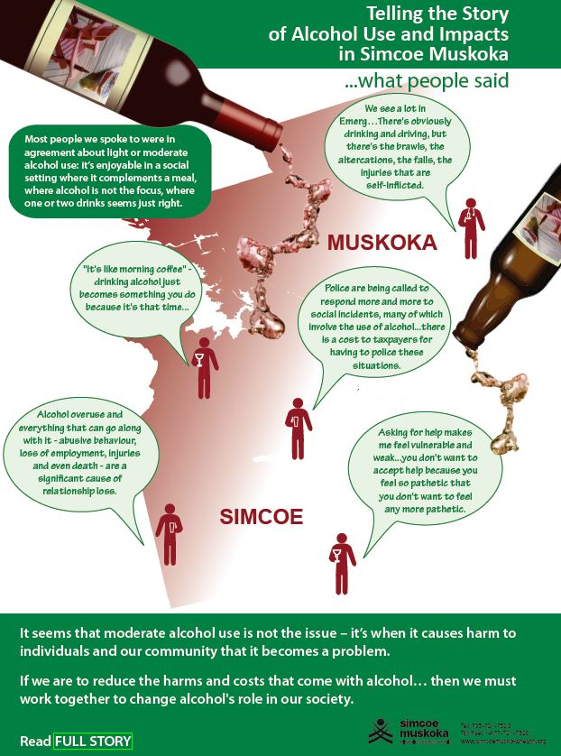 alcohol story infographic